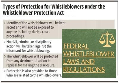 Laws Protect Whistleblowers From Retaliation