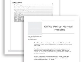 Sample Employee Manuals