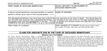 Social Security Settlement Claim